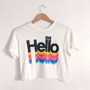 Oh Hello | 80s Crop Graphic Tee